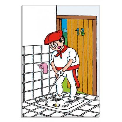 dessin Cortez golf trou toilettes