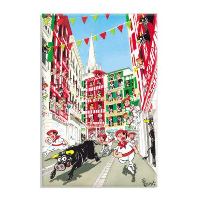 affiche fêtes de bayonne festaires taureau