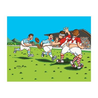 dessin Cortez chistera rugby humour