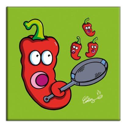 A poêle les piments