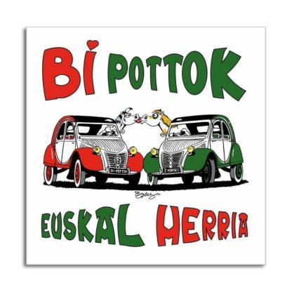 Bi pottok Euskal Herria (2 CV basque)