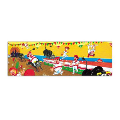 dessin fêtes de bayonne course taureaux festaires