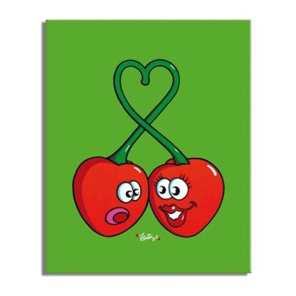 dessin cerises amoureuses coeur