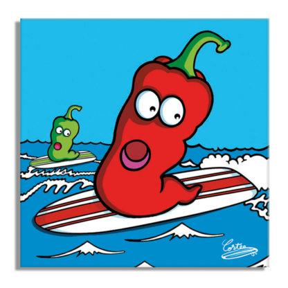 piment surf mer plage humour