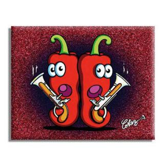 piment rouge espelette arme à feu dessin humour
