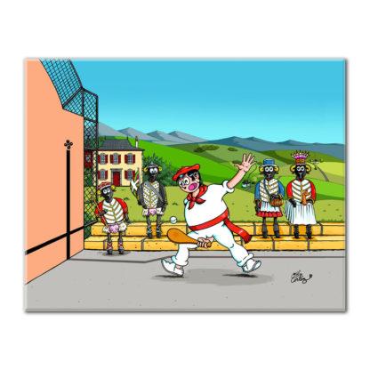 dessin Cortez pelote basque humour