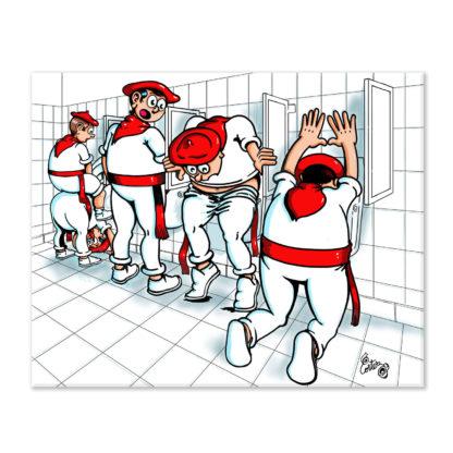 dessin Cortez pissotière des fêtes de Bayonne