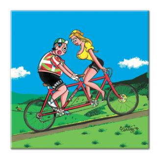dessin Cortez vélo tandem humour basque