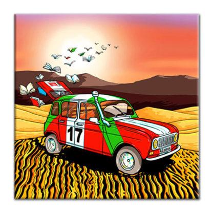 4L voiture livres dessin