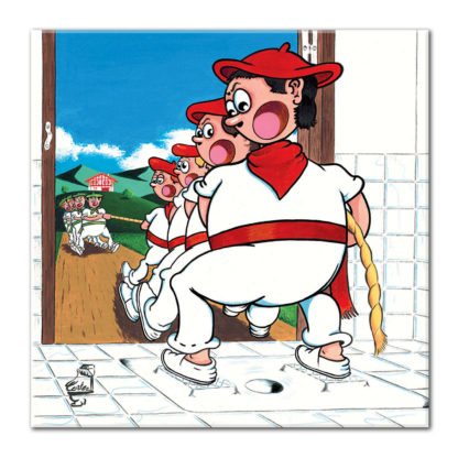 dessin Cortez Soka tira tir à la corde basque toilettes