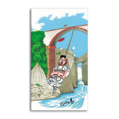 dessin Cortez saut à l'élastique toilettes