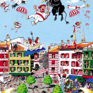 Affiche fêtes de Bayonne place Paul Bert