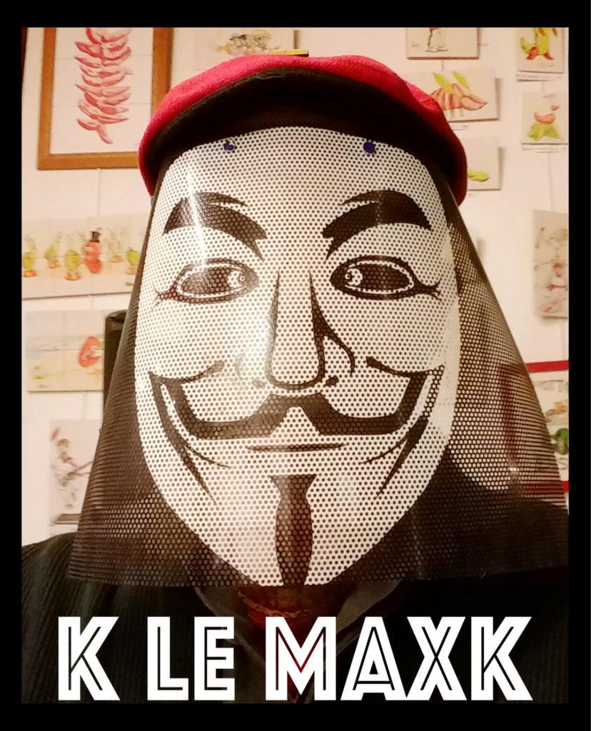 masque anonymous fabriqué par Cortez