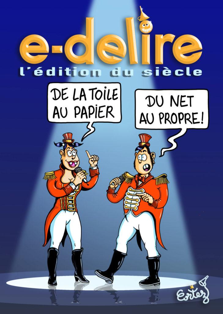 magazine E-délire couverture par Cortez